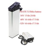 Mate x bicicleta elétrica substituir bateria 250 w 500 w 750 w 48 v 10.4ah 11.6ah 11ah 14ah 16ah 17ah escondido dobrável ebike bateria|Bateria de bicicleta elétrica| |  -