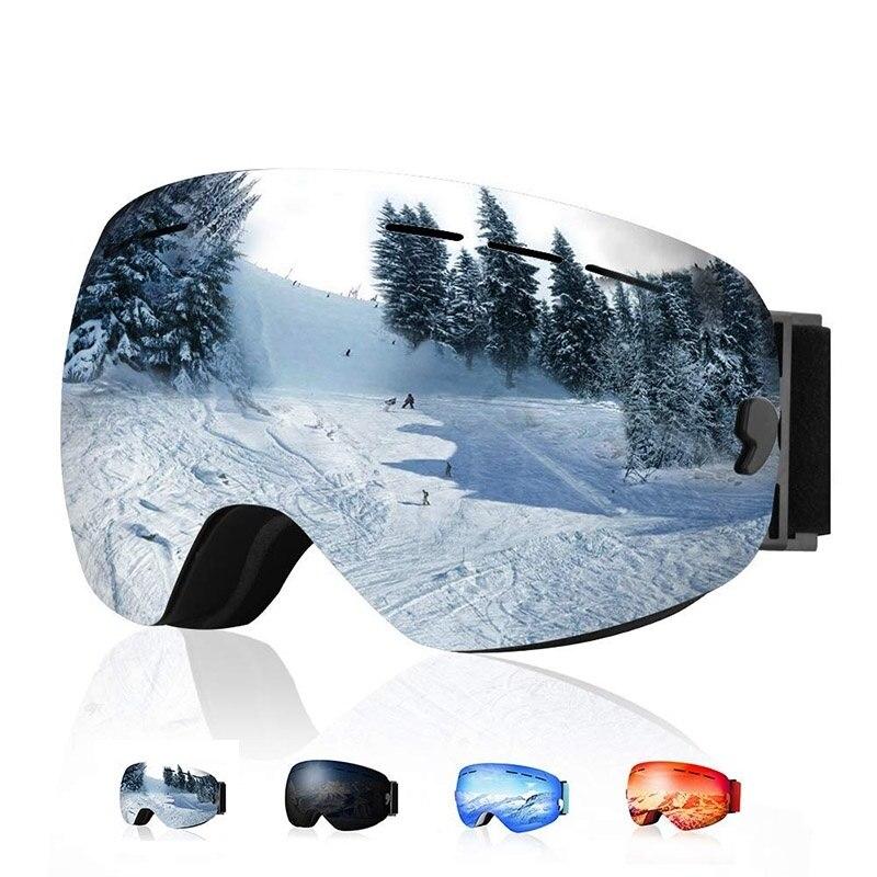 Ski Goggles Layer UV400 Anti-fog Big Ski Mask Glasses Skiing Both Men And Women Cycling Sunglasses