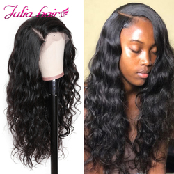 Perruque Lace Front Wig Body Wave malaisienne naturelle Julia, bandeau, faux cuir chevelu, pre-plucked, avec Baby Hair