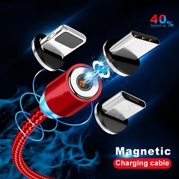 Oświetlenie kabla magnetycznego 2 4A szybkie ładowanie kabel Micro USB typ C ładowarka magnetyczna 1M pleciony kabel telefoniczny do iPhone Xs Samsung Wire tanie i dobre opinie K·STUCNE CN (pochodzenie) Podróży ROHS Qualcomm szybkie ładowanie 2 0 5 V 2A Magnetic USB Cable Charging cable for iphone cable for micro usb for typec usb c