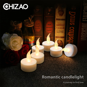 CHIZAO LED Tea Light Candles House holed velas LEDS Battery Powered Flameless Candles Lamp Church Home Decoartion Lighting