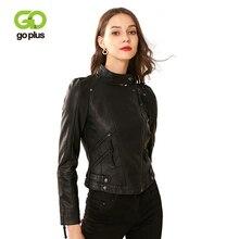 GOPLUS Womens Asymmetric Zip Leather Jackets Moto Biker Zipper Jacket Faux Short Coat Veste En Cuir Femme Kurtka Damska