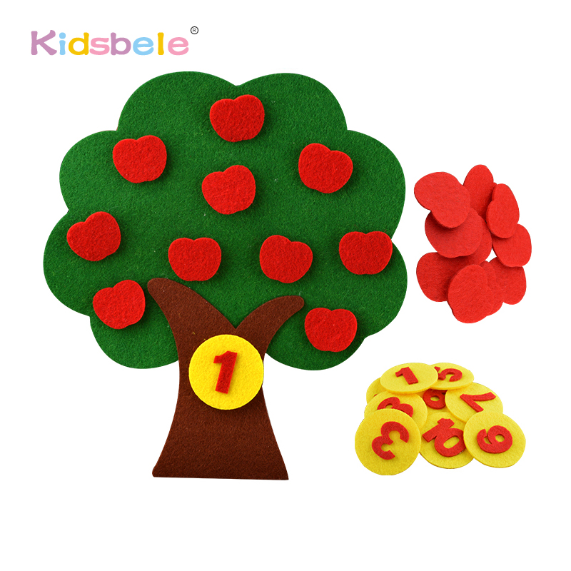 Educational Toys Kids Puzzle DIY Counting Toys Apple Tree Carrot Design Children Learning Educative Toy Kids Craft