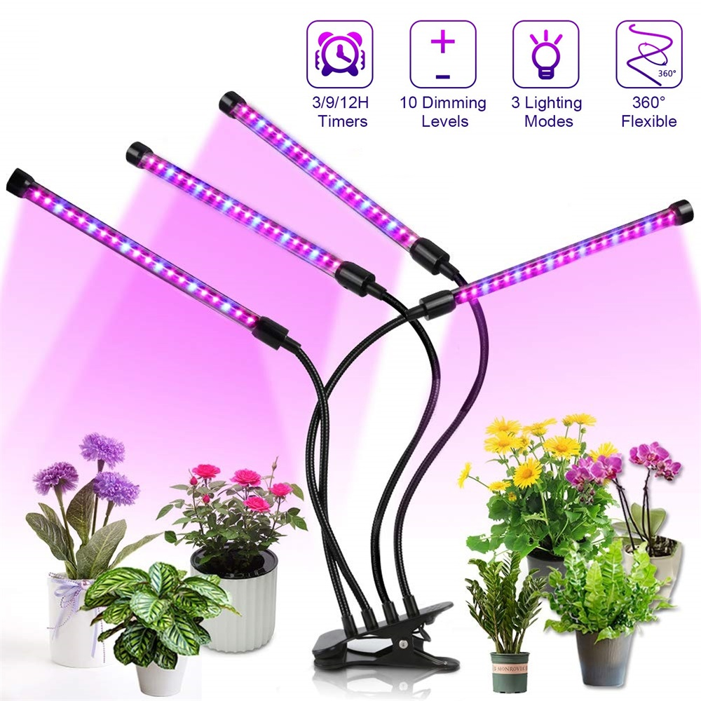 LED Grow Light Timer Phyto Lamp For Plants Full Spectrum USB Grow Light With Control For Indoor Plant Vegetable Seedings