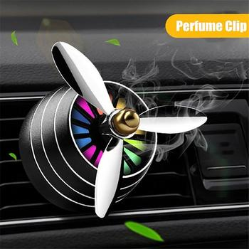 Car Air Vent Freshener Perfume Clip LED Fan Fragrance Aroma Diffuser Decoration image