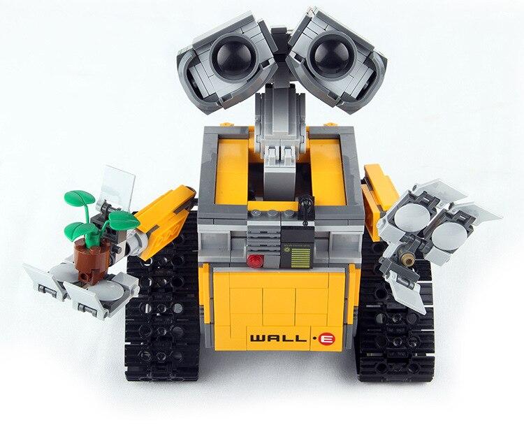 Kids Wall E Robot Toys 687pcs Idea Technic Figures Model Building Kits Block Bricks Educational Christmas