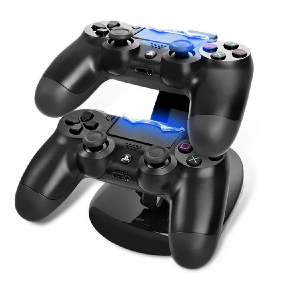 Controller Charger Dock LED Dual USB PS4 Charging Stand Station Cradle for Sony Playstation 4 PS4 / PS4 Pro /PS4 Slim Controller 5