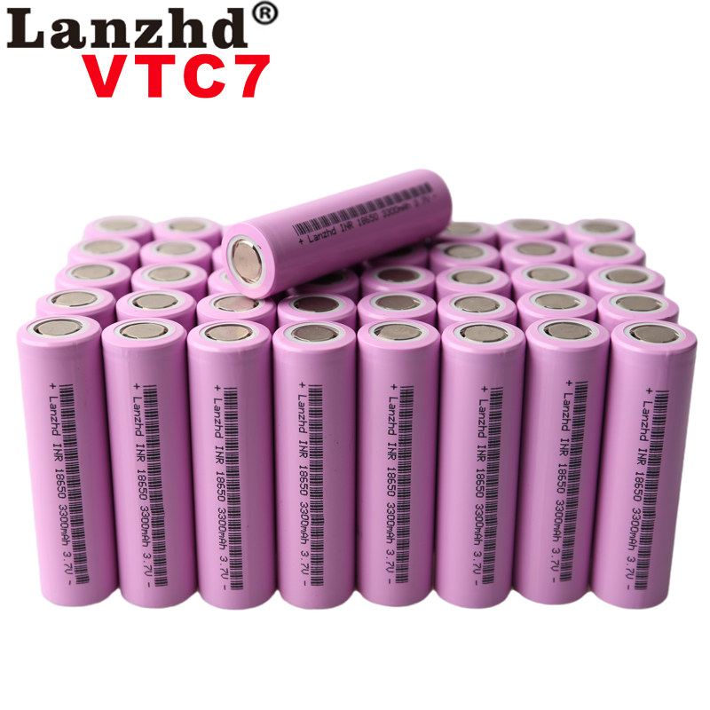 10 ~ 40 шт. Батарея 18650 3,7 V Перезаряжаемые литиевых батарей литий ионный 3,7 v 30a большой ток 18650VTC7 18650 Батарея