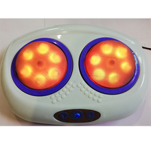 Electric Shiatsu Foot Massager Kneading Rotating Heads & Red Light Soothing Heat For Body Health Care Heating Automatic Massage led electric display dual foot massager shiatsu kneading heat and remote control