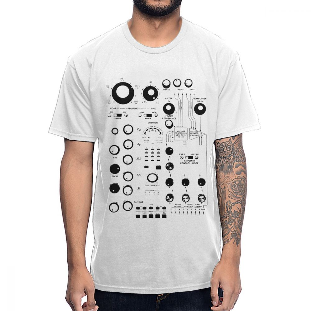 Fashion Analog Synth Synthesizer Controlled Roland Music T Shirt Classic O-Neck Comfortable Cotton Amazing Tee Shirt