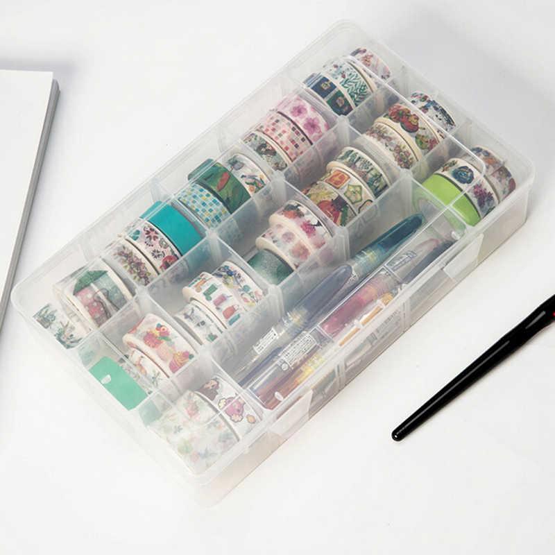 Pp Transparante Washi Tape Opbergdoos Washi Tape Scrapbooking Briefpapier Accessoires Schoolbenodigdheden Set Diy Gereedschap
