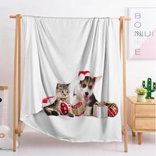2020 буксировочный щенков животных одеяла на заказ большой и