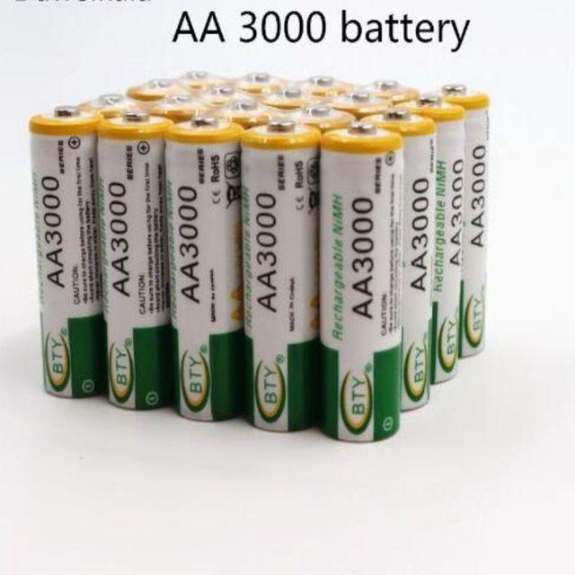 2 個 new1.2v 単三 3000 mah のバッテリーニッケル水素単三電池監視、マウス、玩具など品質安全バッテリー
