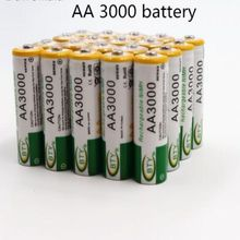 2 pcs new1.2v AA 3000mAh rechargeable battery NI MH AA battery for watch, mouse, toys etc. Quality safety battery