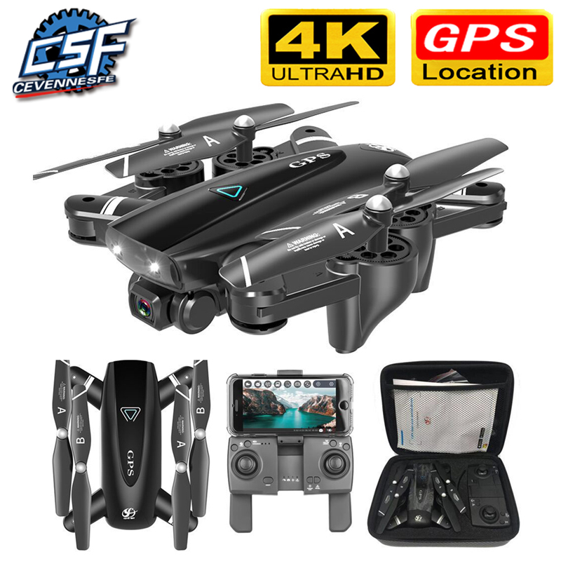 S167 GPS Drone With Camera 5G RC Quadcopter Drones HD 4K WIFI FPV Foldable Off-Point Flying Photos Video Dron Helicopter Toy(China)