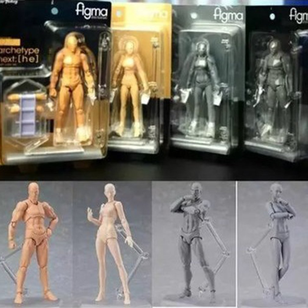 13cm Action Figure Toys Artist Movable Male Female Joint figure PVC Body Figures Model Mannequin Art Sketch Draw Figurine image