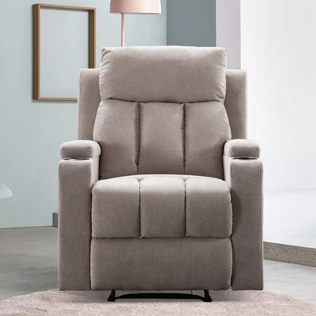 Recliner Chair With 2 Cup Holders for Theater Seating  4