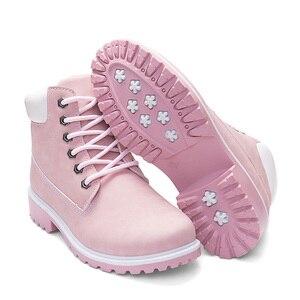 Image 2 - ROXDIA/женские ботильоны; Сезон осень зима; Новые модные женские зимние ботинки для девочек; Женская рабочая обувь; Большие размеры 36 41; RXW762
