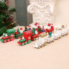 Christmas Ornaments Wooden Small Train Childrens Kindergarten Restaurant Bar Gifts