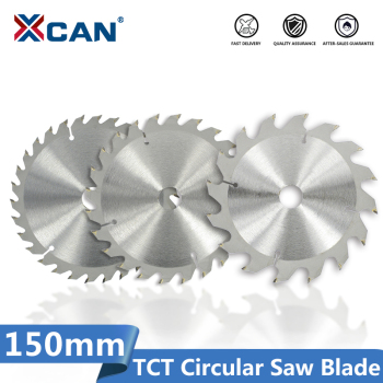 цена на XCAN Wood Saw Blade Diameter 150mm 16 24  30 Teeth TCT Saw Disc Carbide Tipped Cutting Disc Circular Saw Blade