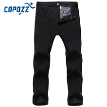 COPOZZ Winter Fleece hiking pants Quick Dry Outdoor Pants Ttrekking Fishing Camping Climbing waterproof trousers for Men Women