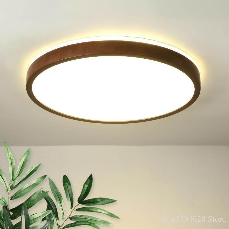 Modern Chinese Solid Wood Roof Ceiling Lighting Simple Bedroom Led Ceiling Light Nordic Acrylic Living Room Led Light Fixture Ceiling Lights Aliexpress