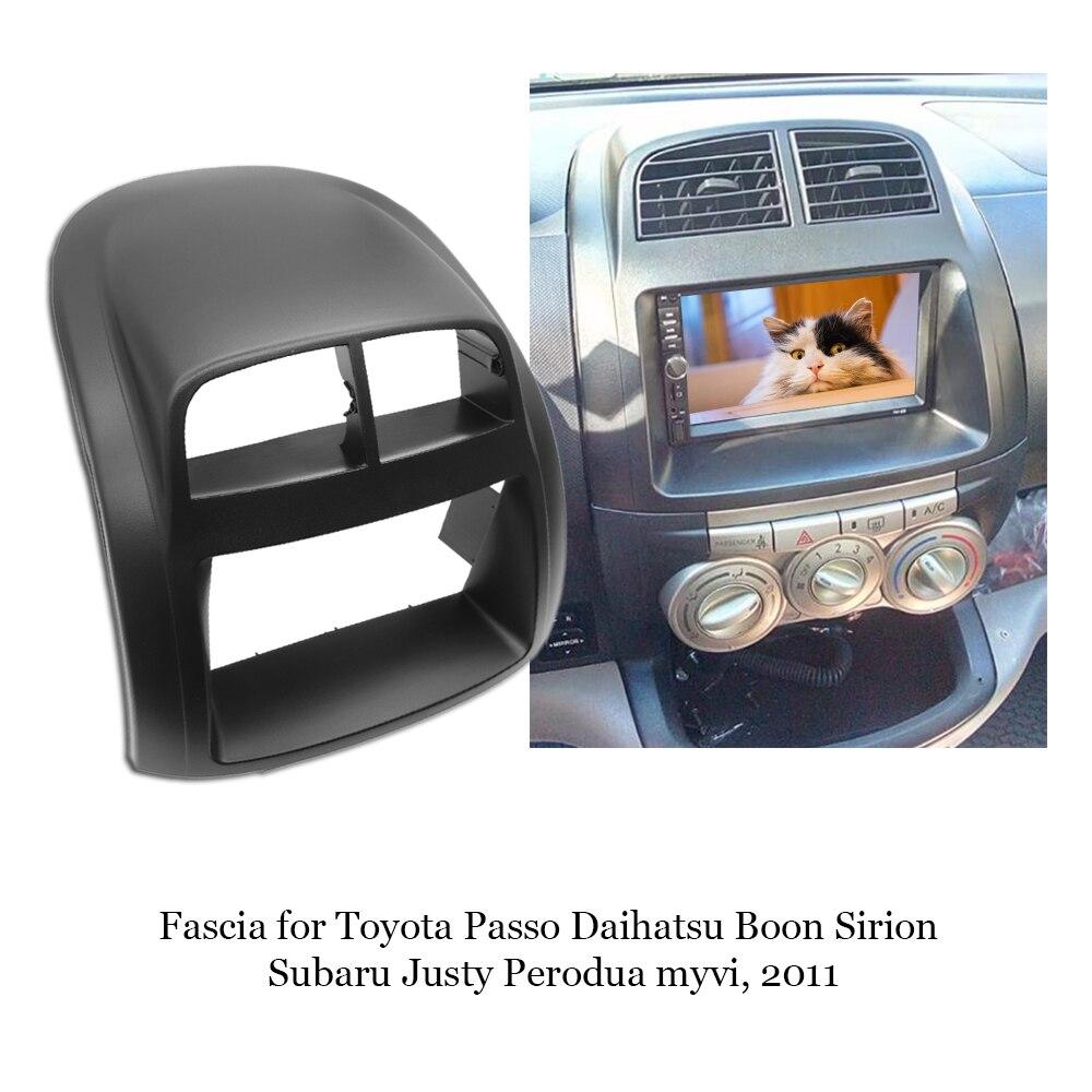 Apto para subaru justy/toyota passo/daihatsu boon/sirion duplo 2din quadro de rádio do carro estéreo dvd fascia traço instalação moldura
