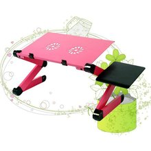 Laptop Table Desk Stand-Tray Mouse-Pad Computer with Cooling-Fans Warehouse