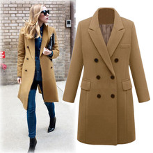 Winter Coat Women 2019 Casual Wool Solid Jackets B