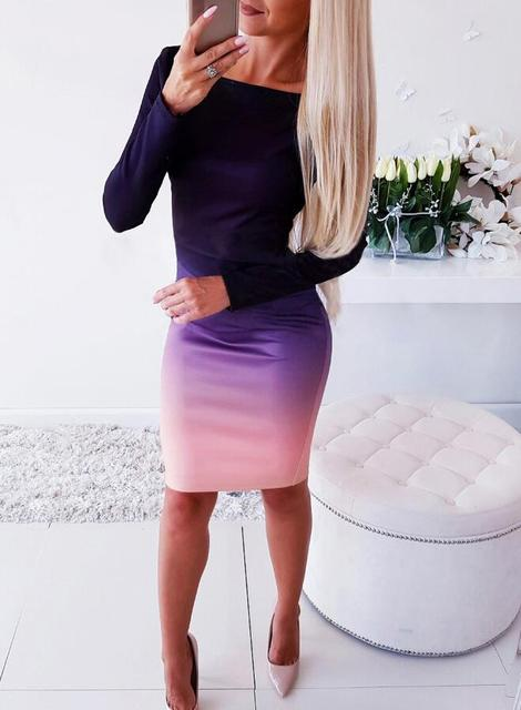 Women Casual Loose Dress Colors Spring Winter Boho Bow Full Long Sleeve Befree Mini Dress Plus Sizes Dresses Robe Femme 2020 3