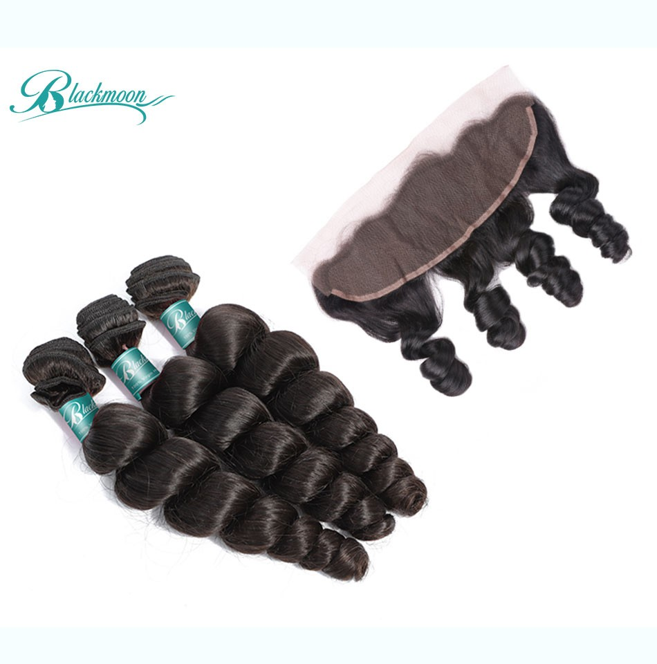 loose wave hair weave 3 4 bundles with 13 4 frontal---3+13_04