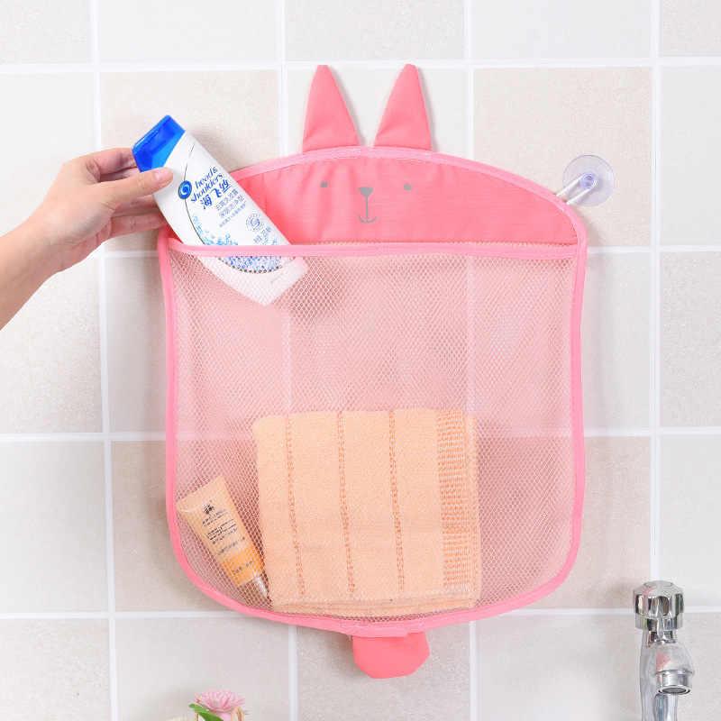 Bolsa de malla para baño de bebé con diseño de ventosa para juguetes de baño, cesta para niños con formas de animales de dibujos animados, juguetes de arena, bolsa de red de almacenamiento