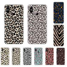 Leopard print Grain pattern Painted Phone Case For Xiaomi Mi 8 9 9SE 9T A2 MAX3 Redmi 4X 5PLUS 5A 6A 7 7A K20 K30 PRO(China)