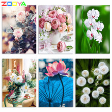 Zooya 5D DIY Diamond Lukisan Persegi Bunga Ikon Diamond Bordir Gambar Mosaik Diamond Lukisan Cross Stitch Zh006(China)