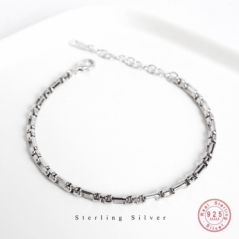 Женский классический браслет-цепочка в стиле панк из стерлингового серебра 925 пробы, уличная ковбойская одежда, ювелирные аксессуары, подар...