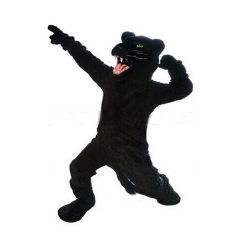 Costume de mascotte de panthère noire costumes robe de jeu de fête tenues vêtements Promotion carnaval Halloween noël adultes Fursuit