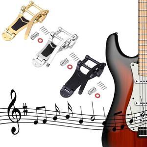 Image 2 - Запасные части для электрогитары Vibrato LP, отличные сплавы, золотой, серебряный и черный, запорный мост, кривошипная планка
