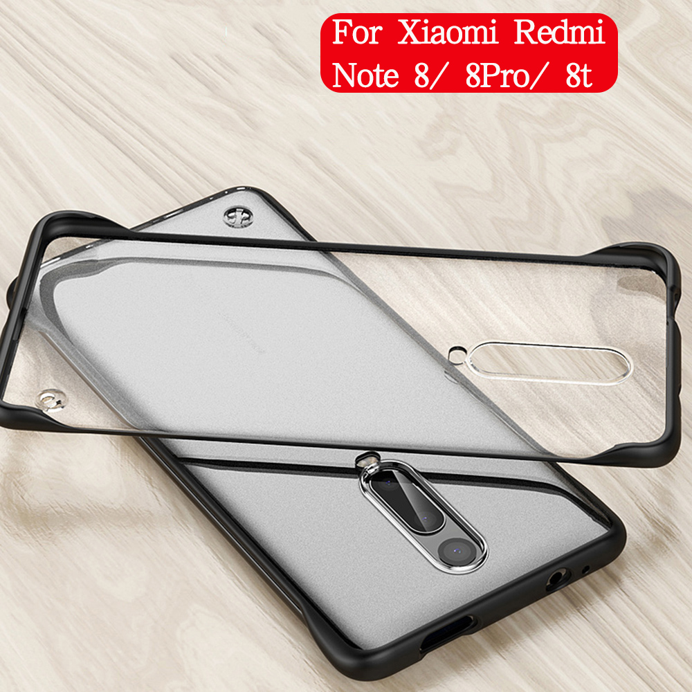 Borderless Phone Case For xiaomi Redmi note <font><b>8</b></font> pro 8t Frameless Matte with Ring cover on For Redmi note <font><b>8</b></font> note8 case capa shell image