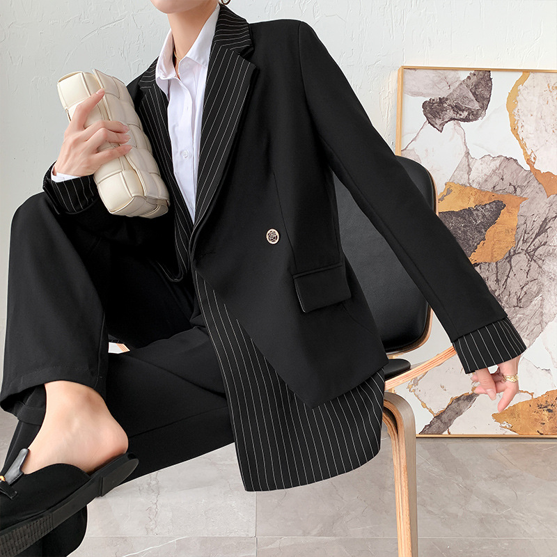 Женский блейзер большого размера, блейзер на заказ для осени и зимы Пиджаки    АлиЭкспресс