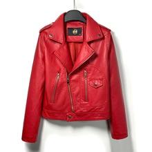DK 2020 New Arrival kobiety wiosna skórzana krótka kurtka damska Zipper Moto kurtka motocyklowa Faux Coat czarny czerwony znosić Plus rozmiar
