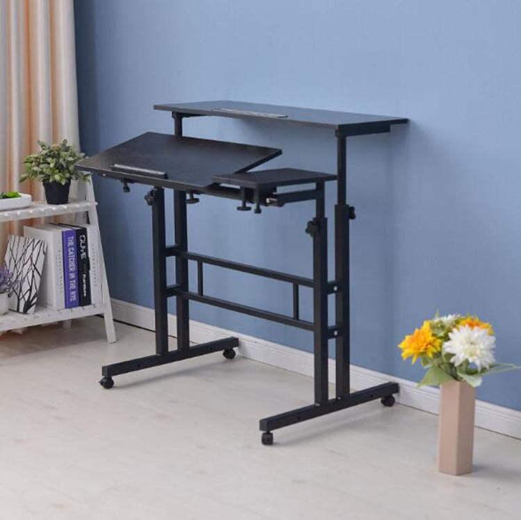 Купить стоячий компьютерный стол для ноутбука с клавиатурой мыши полка