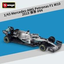 1:43 Bburago F1 2019 AMG Petronas W10 EQ Power 2013 RB9 RB15 W10 F1 2020 1000th Ferrari SF1000 #16 Sebastian vettel Diecast Auto