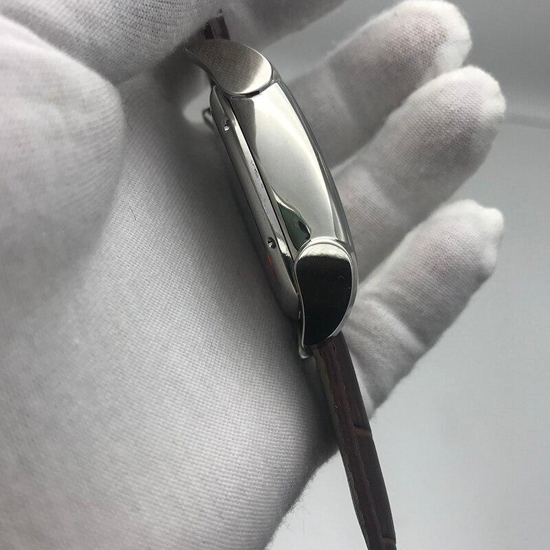 2019 nouvelle vente chaude hommes KA montre cadran blanc bracelet brun 34mm taille pa meilleure qualité 316L en acier inoxydable automatique squelette montre A - 4