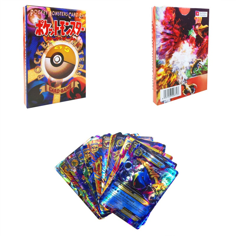 100pcs GX EX MEGA Shining Carte Cards Game Battle Carte No Repeat Pikachu Card Game For Children Toy