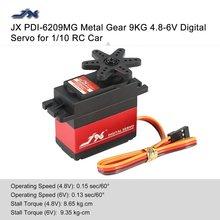 JX PDI-6209MG 4.8V-6V 0.13sec/60 9.35kg Digital Metal Servo Aluminums Case for 1/10 RC car Kst Servo