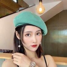 2020 модная женская летняя тонкая дышащая шапка художника черный