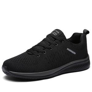 Image 2 - Zapatos informales de malla para hombre, zapatillas ligeras y transpirables, con cordones, talla 38 45