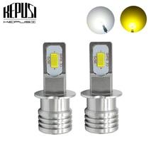 2x H1 H3 Led Fog Lamp Bulb Auto Car Motor Truck 72w high power LED Bulbs Driving Running Light DRL 12V 24V White Yellow