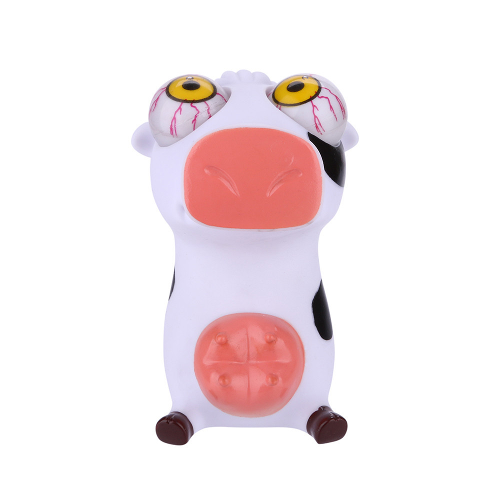 Novelties Pop Out Stress Reliever Cows Squeeze Vent Toys Boys And Girls Punching Bag Unzip Anti-stress Toy #B