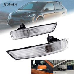 1 Pcs / Pair of Mirror Turn Signal Corner Light Lamp Cover Shade Screen for Ford Focus 2 3 Mondeo 2008 2009 2010 2011